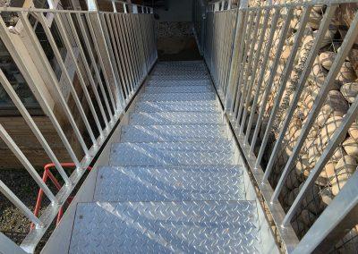Metal steel staircase tread plate