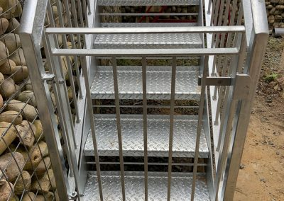 Metal steel stairs and gates